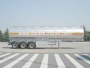 Çin 46000 Liters Aluminum Fuel Oil Tank Trailer With 12T BPW 3 axles Petroleum Tanker Trailers Tedarikçi