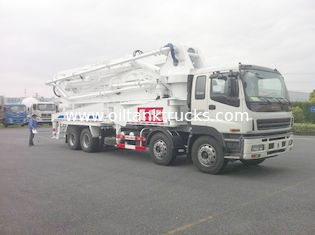 Çin 8x4 SSAB Steel ISUZU 47m Truck Mounted Concrete Pump / Delivery Equipment 390HP Tedarikçi