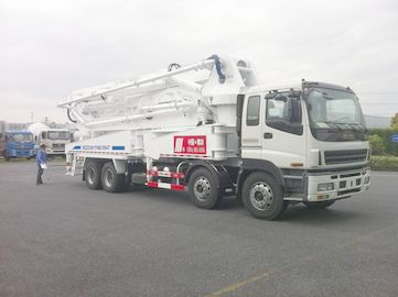 Çin 8x4 SSAB Steel ISUZU 47m Truck Mounted Concrete Pump / Delivery Equipment 390HP Distribütör