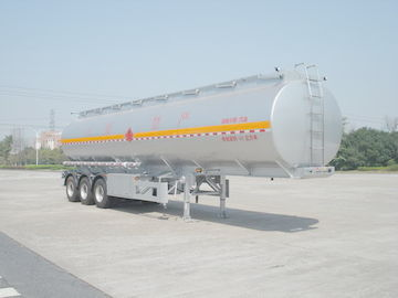 Çin 46000L Aluminum Alloy 3 Axles Diesel Oil Tank Trailer , Light Gasoline Trailer Distribütör